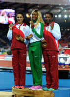 Jodie Williams _ Blessing Okagbare Bianca Williams, Womens 200m Medal Ceremony_10457
