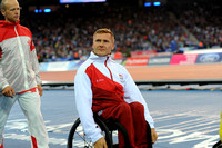 Mens 1500 Wheelchair T54 Medal Ceremony