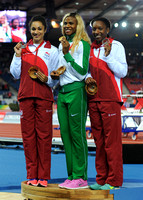 Jodie Williams _ Blessing Okagbare Bianca Williams, Womens 200m Medal Ceremony_10455