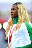 Blessing Okagbare Womens 100m Medal Ceremony _66572