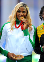 Blessing Okagbare Womens 100m Medal Ceremony _66585